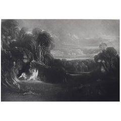John Martin, Raphael Conversing with Adam And Eve, Mezzotint, 1827