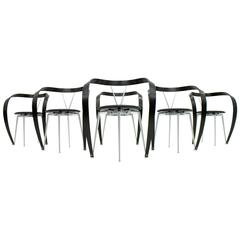 Set of Six Revers Chairs, Andrea Branzi for Cassina, 1993