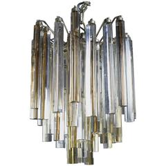 Two Toned Murano Glass Camer Chandelier