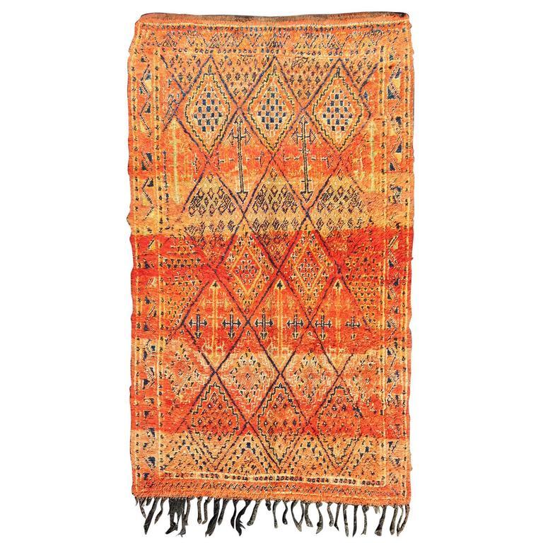 Vintage Moroccan Beni Mklid Rug For Sale At 1stdibs