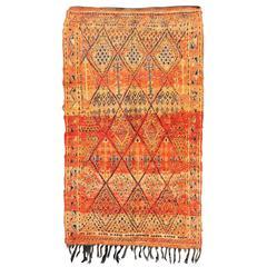 Vintage Moroccan Beni Mklid Rug