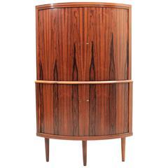 Danish, Mid-Century Modern Rosewood Corner Cabinet, circa 1960