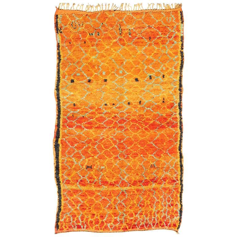 Vintage Moroccan Area Rug For Sale At 1stdibs: Vintage Moroccan Boujaad Rug At 1stdibs