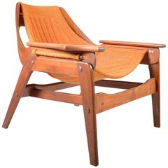 Mid-Century Jerry Johnson Sculptural Bentwood Sling Chair