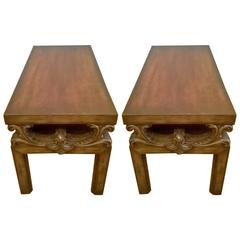 Pair of James Mont 1940s Side Tables