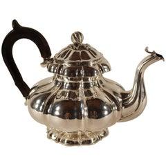 Antique Silver Teapot, Belgium 1831-1869