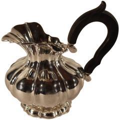 Antique Silver Cream Pot, Belgium 1831-69
