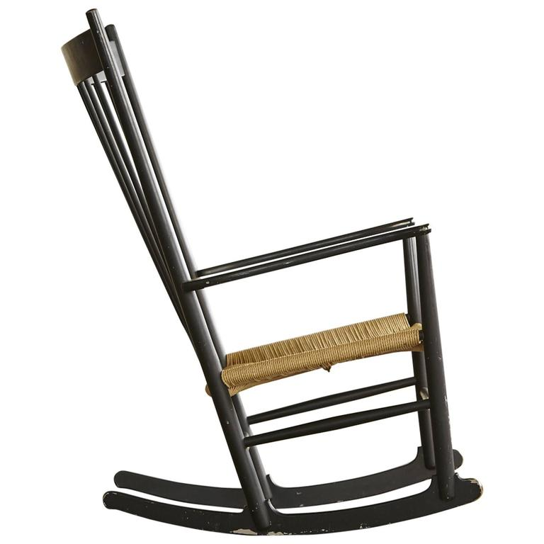 This Rocking Chair J16, Black Rocker designed by Hans Wegner is no ...