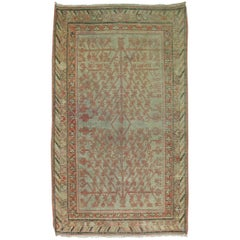 Worn Antique Khotan Area Size Rug