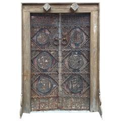 China Finest Antique Hand Carved Birds and flowers Garden Doors, 19th Century
