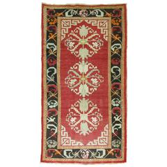 Vintage Turkish Rug influenced by Mongolian Style Rugs