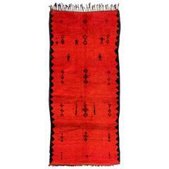 Vintage Moroccan Rhamma Rug