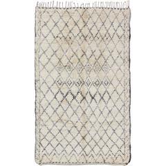 Large Vintage Moroccan Beni Ouarain Rug