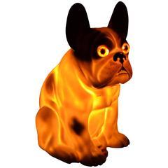 Vintage-Duftlampe in Form einer Französischen Bulldogge