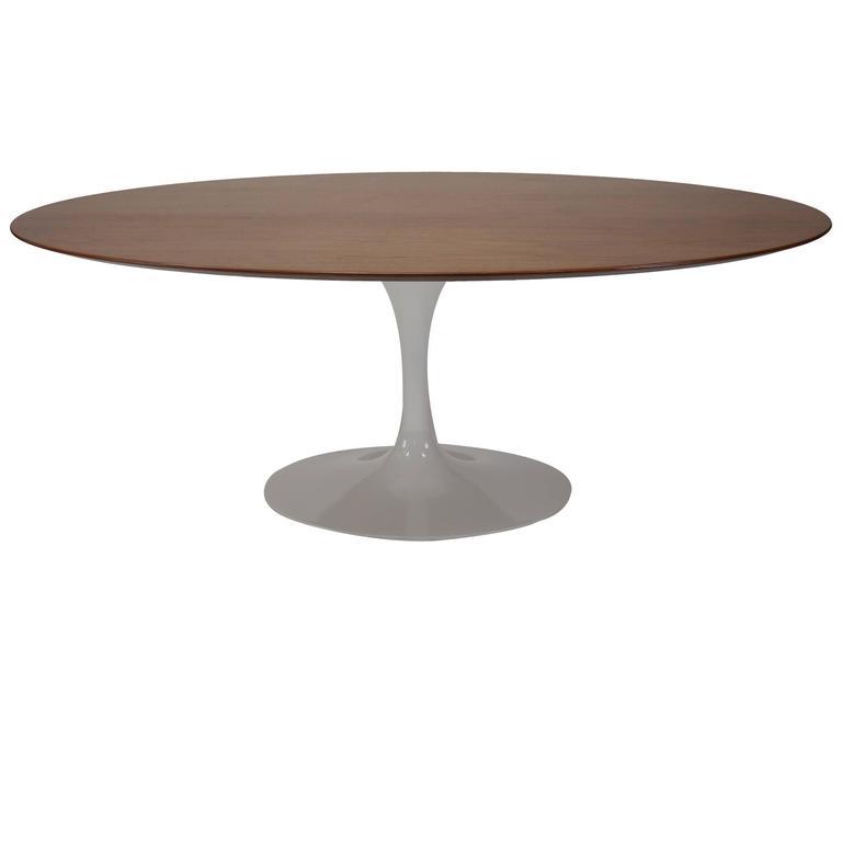Oval tulip dining table by eero saarinen for knoll at 1stdibs - Saarinen oval dining table dimensions ...
