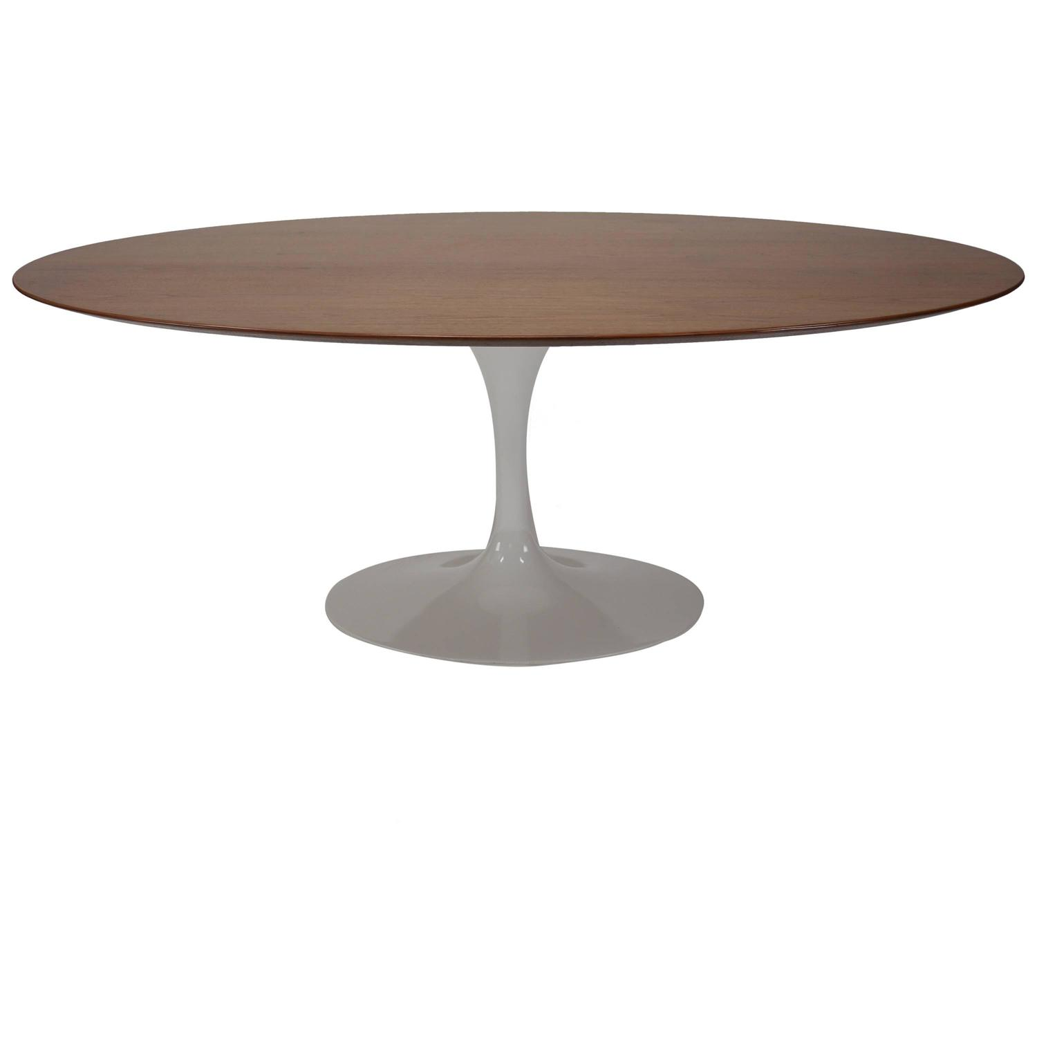 Oval tulip dining table by eero saarinen for knoll at 1stdibs for Tulip dining table