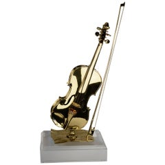 Polished Bronze Violin