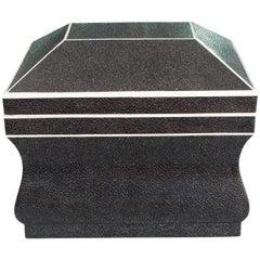 Natural Shagreen Box Karl Springer Style