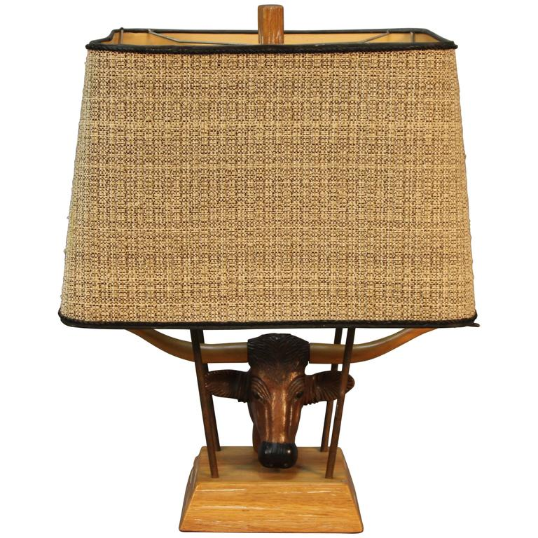 Ranch Oak Table Lamp by A. Brandt Company For Sale
