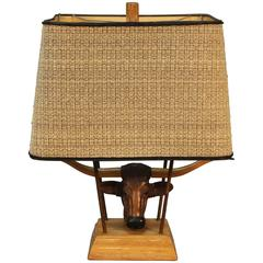 Ranch Oak Table Lamp by A. Brandt Company
