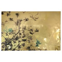 """Magnolia: Turquoise,"" Limited Edition Photograph On Aluminum By Layla Love"
