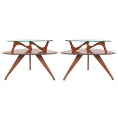 Sculptural Mid-Century Modern End Tables after Adrian Pearsall
