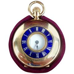 Tiffany & Co. 18 Karat Yellow Gold and Enamel Pendant Watch