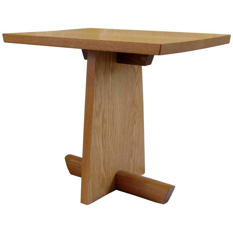 Mira Nakashima White Oak Minguren End Table Signed 1996