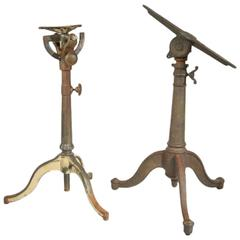 Pair of Cast Iron Articulating Drafting Table Bases