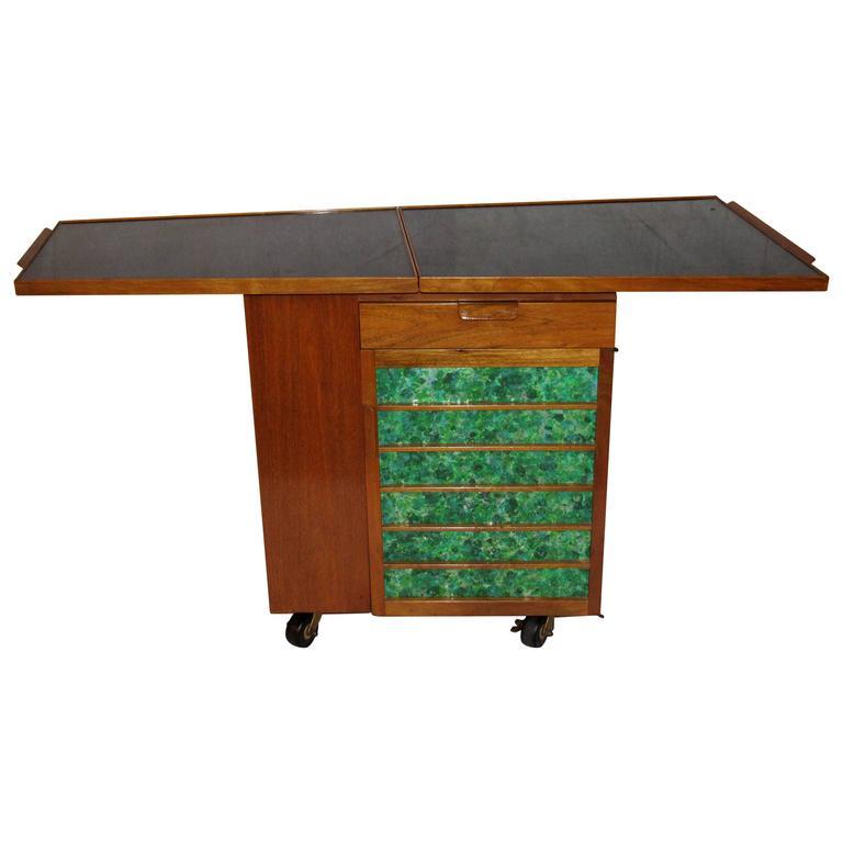 Edward Wormley for Dunbar Bar Cart, Model 5433, circa 1953  For Sale