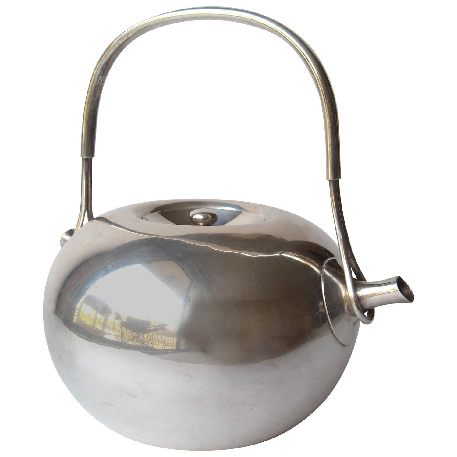 dansk tea kettle feecddf fee  - vivianna torun bulow hube dansk silver plate tea pot at stdibs