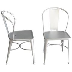 Pair of Chairs in Wrought Iron. Garden furniture