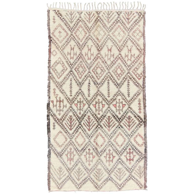 Large Moroccan Beni Ouarain Rug
