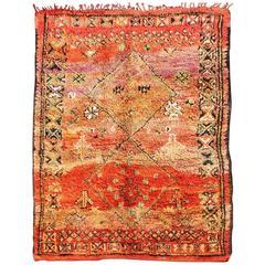 Vintage Moroccan Zemmour Rug