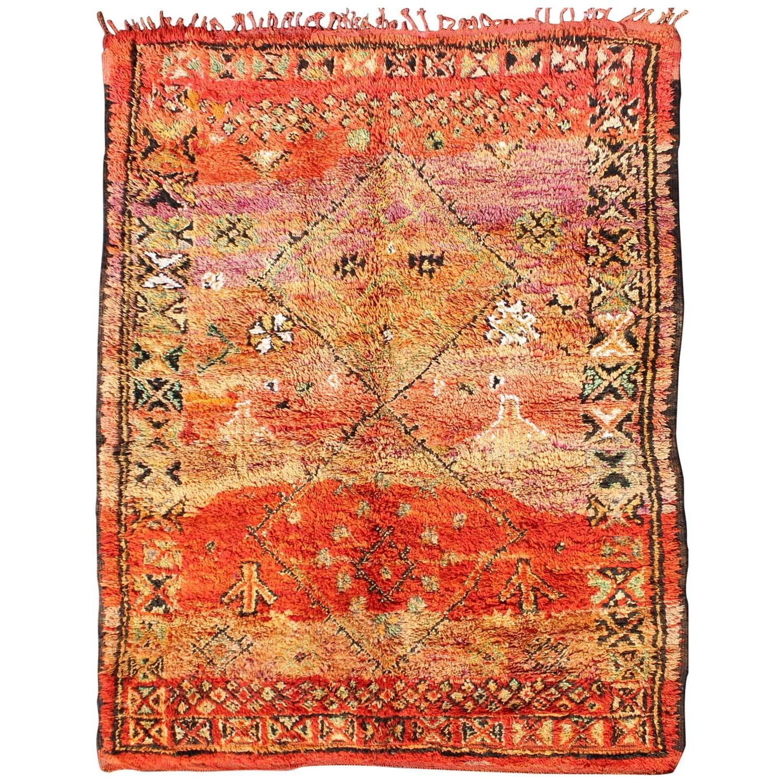 vintage moroccan zemmour rug for sale at 1stdibs. Black Bedroom Furniture Sets. Home Design Ideas