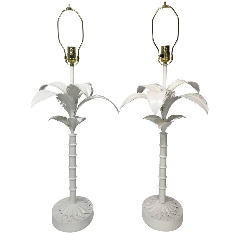 this pair of large palm tree table lamps is no longer available. Black Bedroom Furniture Sets. Home Design Ideas