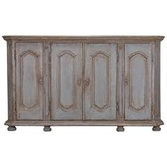 Antique French Painted Régence Enfilade Buffet, circa 1770