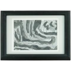 Black Swirls Painting