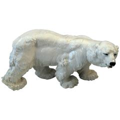 Meissen Tall Animal Figurine Ice Bear T 181 by O. Jarl, circa 1905