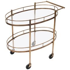 Mid-Century Serving or Bar Cart/Trolley, France, circa 1960