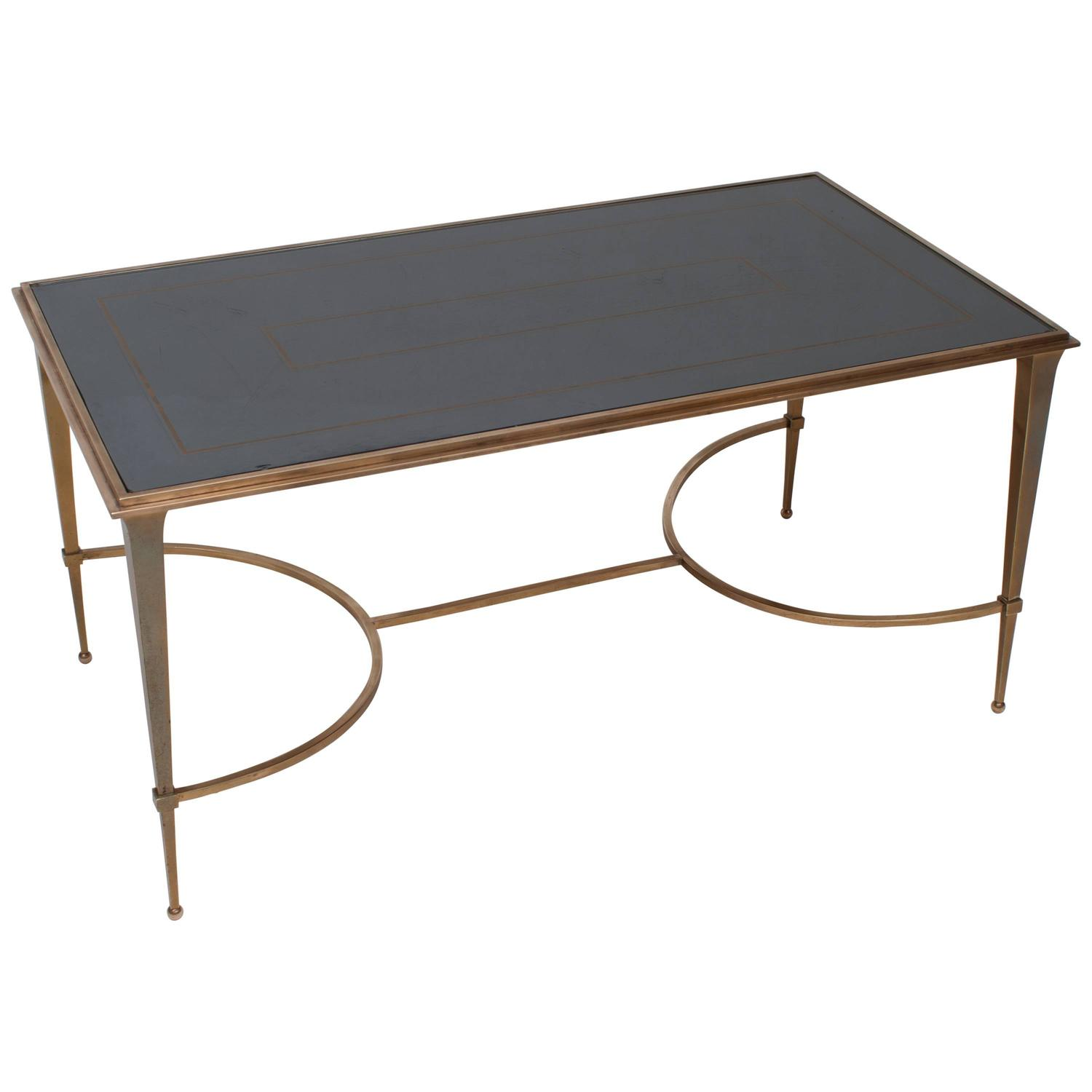Maison Ramsay Bronze Coffee Table With Mirrored Top Circa