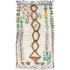 Large Vintage Moroccan Azilal Rug
