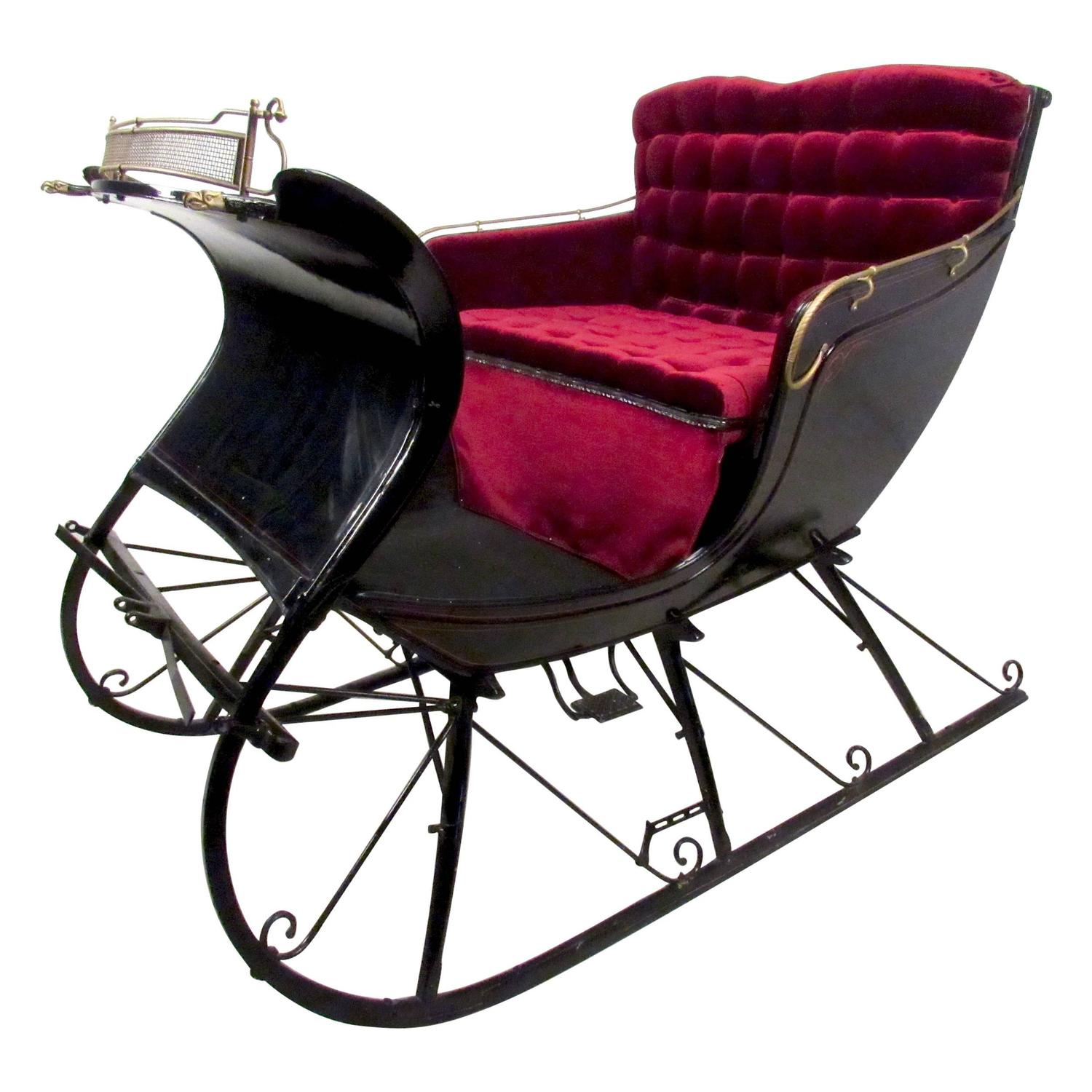 Stylish Vintage Horse Drawn Cutter Sleigh At 1stdibs