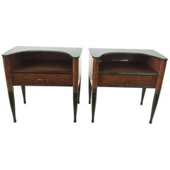 Pair of Exquisite and Rare Italian Nightstands or Sidetables