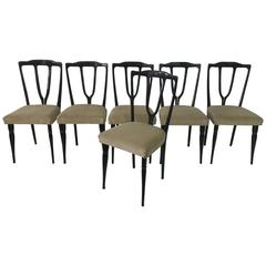 Six Vintage Italian Wish-Bone Dining Chairs