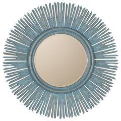 Vintage Sunburst Painted French Mirror, circa 1980