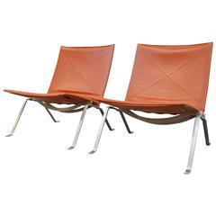 PK22 Lounge Chairs by Poul Kjaerholm for E. Kold Christensen