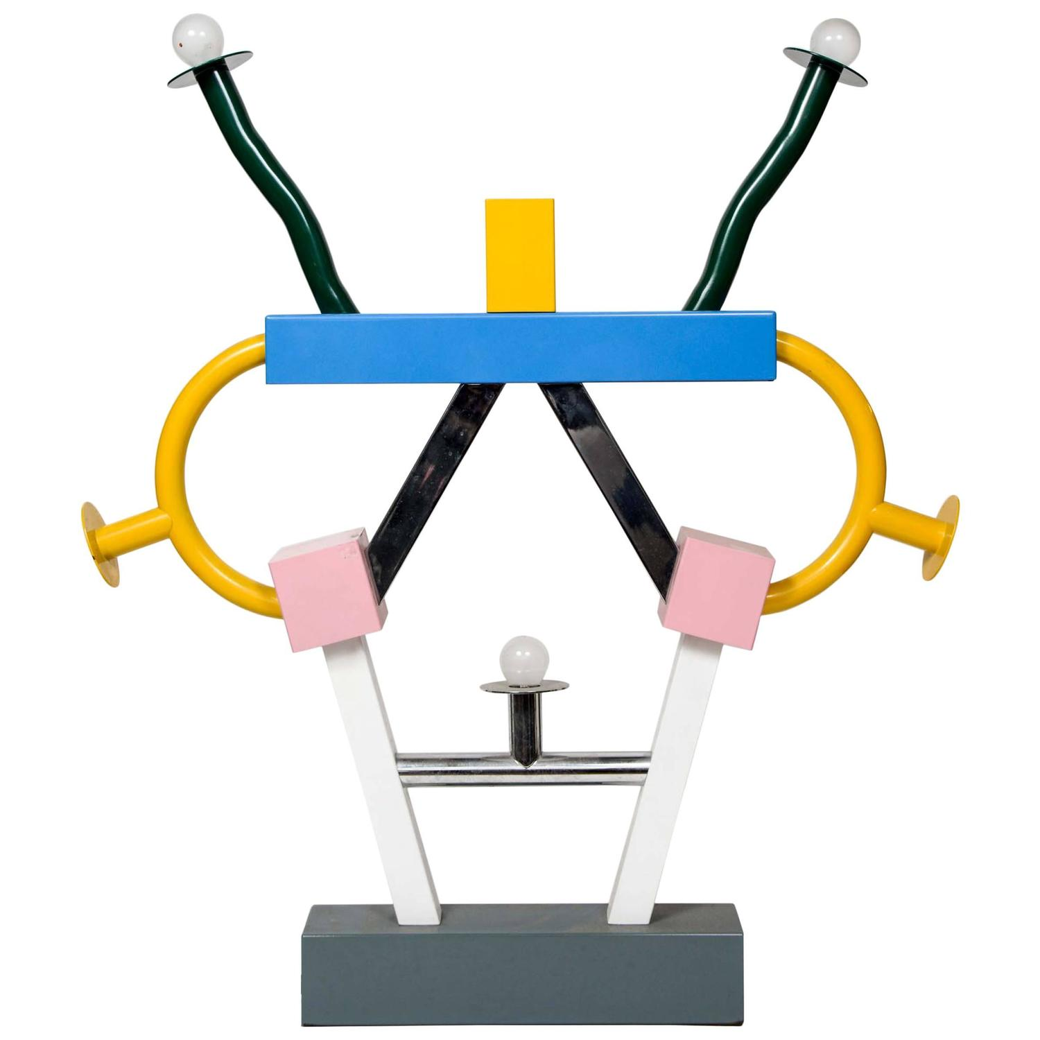 Colorful Ashoka Lamp By Ettore Sottsass For Memphis For