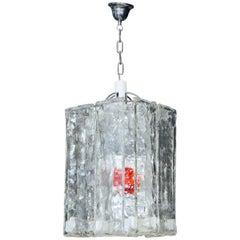 Modernist Square Murano Glass Pendant