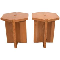 French Studio Hexagon Stools